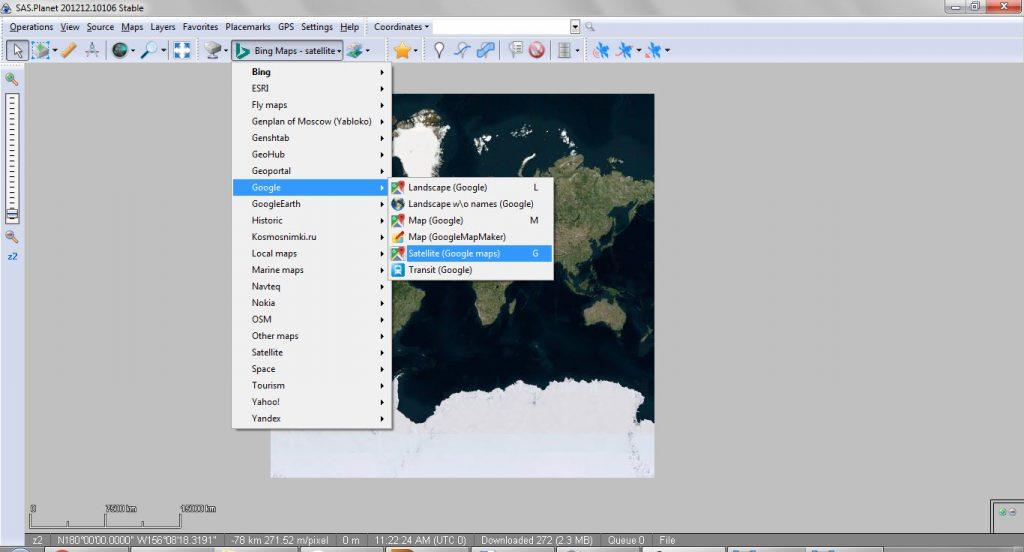 SAS Planet Google Earth